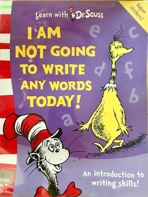I Am Not Going To Write Any Words Today!