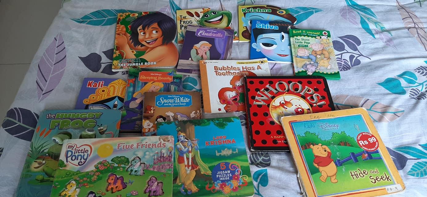 Urja's favourite books for 0-4 years. #kbcKeepCalmAndReadOn