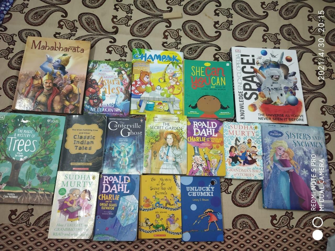 Shranya's Reading Suggestions for 7-10 year olds. #kbcBookBingoSr