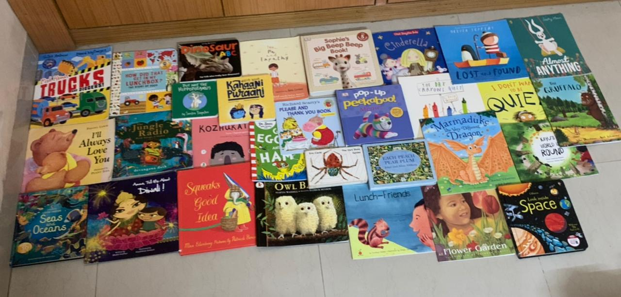 Dhyana's Super Thirty! Books for 0-4 year olds #kbcBookBingoJr