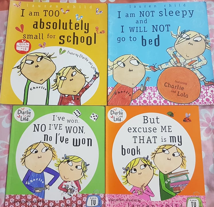Charlie And Lola Books – the answer to all toddler/pre-schooler dramas! (3-7 years)